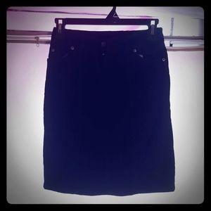 Black cordaroy skirt